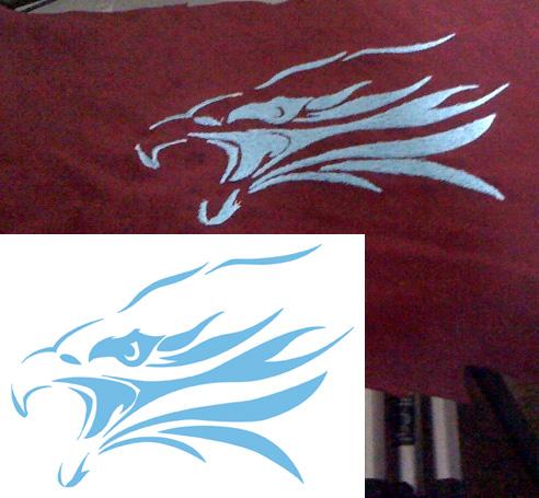 untrimmed Skyline Eagle test stitch